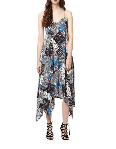 Buffalo David Bitton Printed Sun Dress-WHITE-Small
