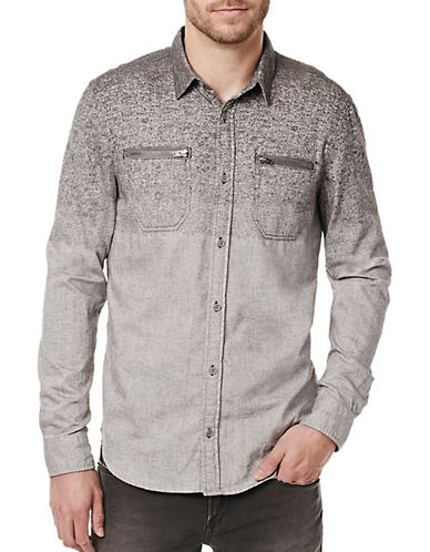 Buffalo David Bitton Sifaro Woven Shirt-GREY-Large