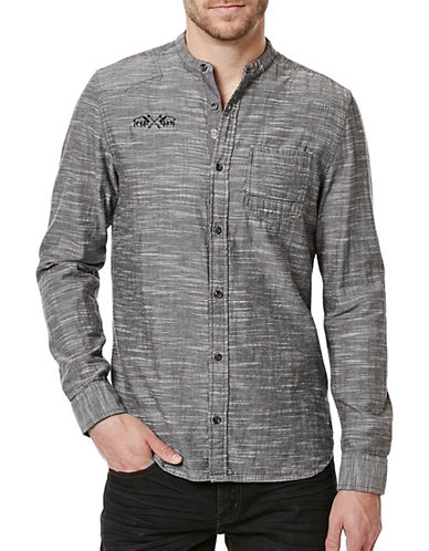 Buffalo David Bitton Woven Cotton Shirt-CANNON-Small