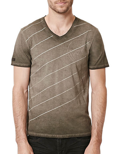 Buffalo David Bitton Diagonal Logo T-Shirt-CHARCOAL-X-Large 88761828_CHARCOAL_X-Large