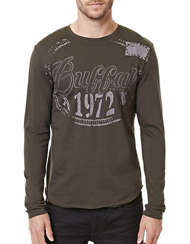 Buffalo David Bitton Timoteo Knit Top-GREY-X-Large 88824188_GREY_X-Large