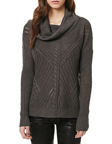 Buffalo David Bitton A-Great-Cowl Sweater-GREY-Small 88890933_GREY_Small