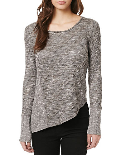 Buffalo David Bitton Bia-Lining Knit Top-GREY-Small 88890888_GREY_Small