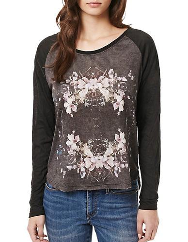 Buffalo David Bitton Flower-Wreath T-Shirt-GREY-X-Small 88890892_GREY_X-Small