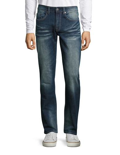 Buffalo David Bitton Six Fit Slim Straight Leg Jeans-INDIGO-33X32