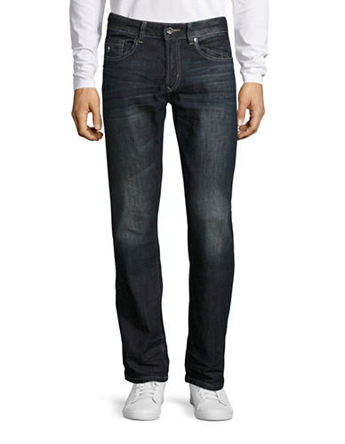 Buffalo David Bitton Six Fit Slim Straight Leg Jeans-INDIGO-34X32