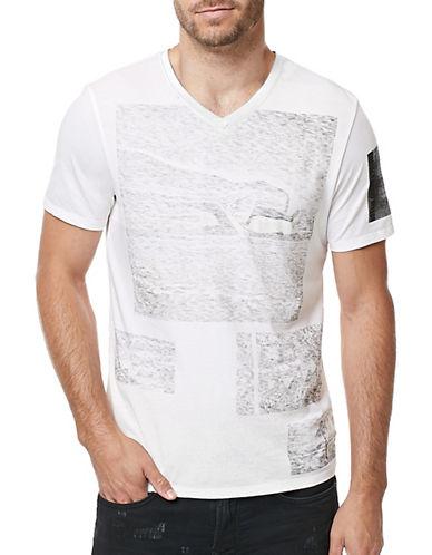 Buffalo David Bitton Graphic Printed T-Shirt-WHITE-Large 88889160_WHITE_Large