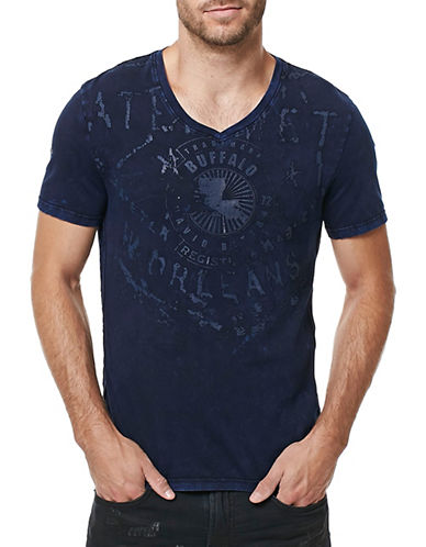 Buffalo David Bitton Garment Dyed T-Shirt-DARK GREY-X-Large 88889186_DARK GREY_X-Large