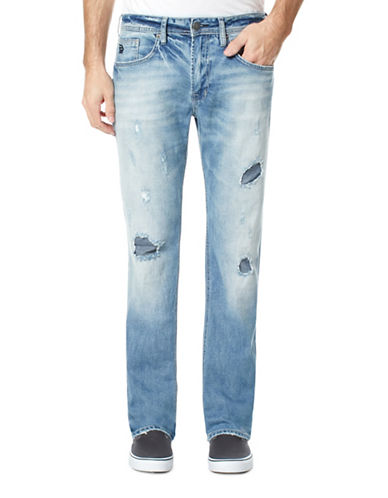 Buffalo David Bitton Slim Straight Jeans-BLUE-34X34