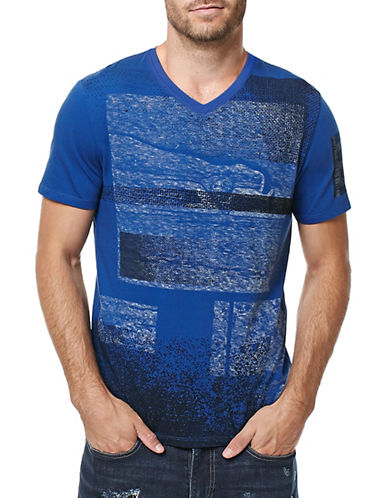 Buffalo David Bitton Graphic Printed T-Shirt-BLUE-Small 88889163_BLUE_Small