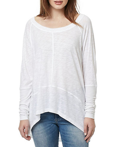 Buffalo David Bitton Couch Slouch Knit Top-WHITE-Medium 89036973_WHITE_Medium