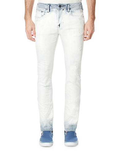 Buffalo David Bitton Ombre Skinny Fit Five-Pocket Jeans-WHITE-34X32