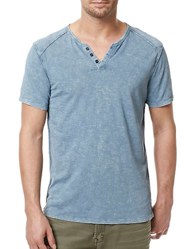 Buffalo David Bitton Short Sleeve Henley-PINK-Medium