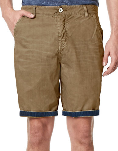 Buffalo David Bitton Hassa Roll-Up Shorts-BEIGE-34