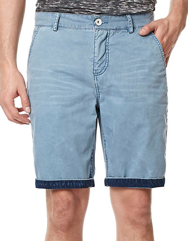 Buffalo David Bitton Hassa Roll-Up Shorts-LIGHT GREY-33