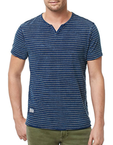 Buffalo David Bitton Stripe Jersey Tee-BLUE-X-Large 89068380_BLUE_X-Large
