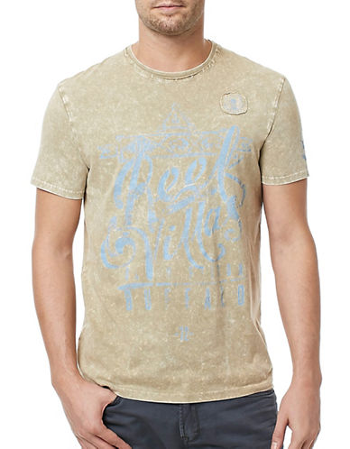 Buffalo David Bitton Acid Wash Villas T-Shirt-GREEN-Small