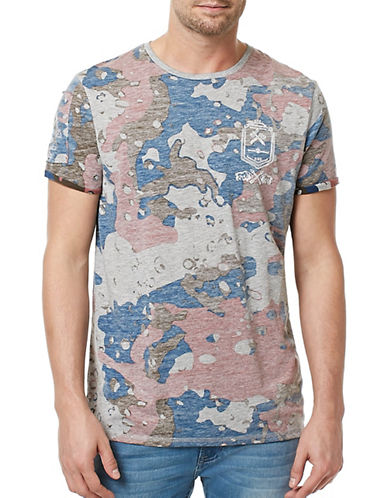 Buffalo David Bitton Camo Crew Neck T-Shirt-GREY-Large 89105615_GREY_Large