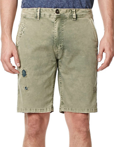 Buffalo David Bitton Hivan Cotton-Blend Shorts-GREEN-34