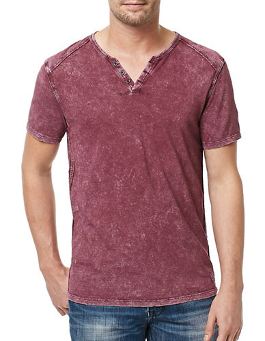 Buffalo David Bitton Short Sleeve Henley-SALMON-XX-Large