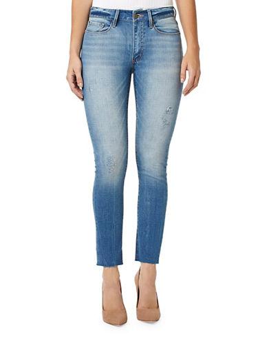 Buffalo David Bitton Ivy Cropped Straight-Leg Jeans-BLUE-32
