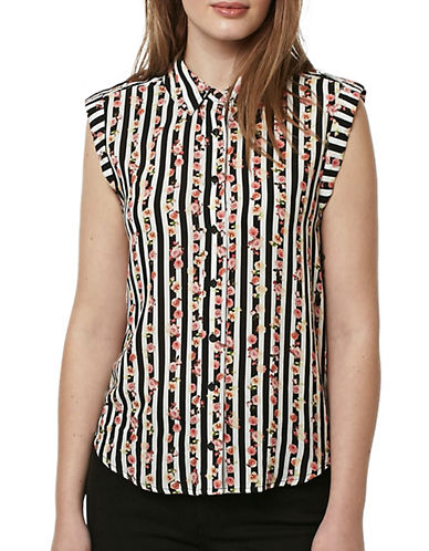 Buffalo David Bitton Elden Rayon Voile Woven Top-MULTI-Medium