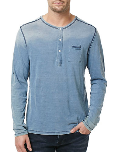 Buffalo David Bitton Kabing Long Sleeve Henley Top-GREY-Small 89068387_GREY_Small