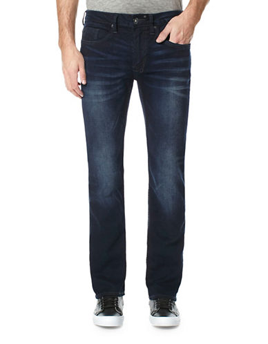 Buffalo David Bitton Super Stretch Straight-Leg Crinkle Jeans-BLUE-29X32