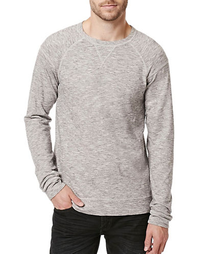 Buffalo David Bitton Raglan Sleeve Knit Top-GREY-Large