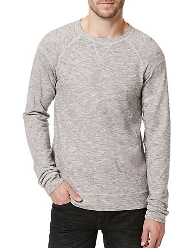 Buffalo David Bitton Raglan Sleeve Knit Top-GREY-X-Large