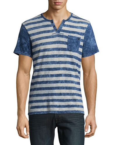 Buffalo David Bitton Buffalo David Striped Tee-BLUE-X-Large