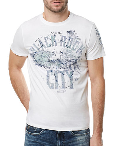 Buffalo David Bitton Tilet Eagle Graphic Tee-WHITE-X-Large 89234546_WHITE_X-Large
