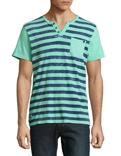 Buffalo David Bitton Buffalo David Striped Tee-GREEN-X-Large