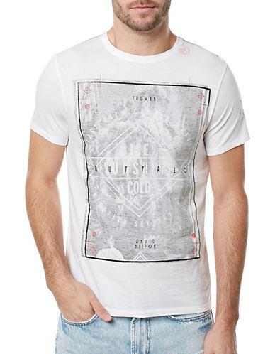 Buffalo David Bitton Graphic Printed T-Shirt-WHITE-X-Large 89137914_WHITE_X-Large