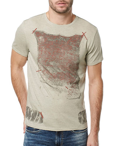 Buffalo David Bitton Tidust Heathered Graphic Tee-GREY-Small 89234533_GREY_Small