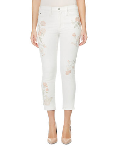 Buffalo David Bitton Ivy Floral Cropped Pants-WHITE-26
