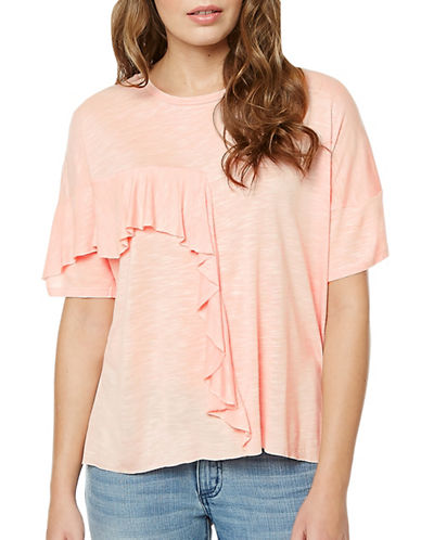 Buffalo David Bitton Koya Ruffle Tee-BALLERINA-Large