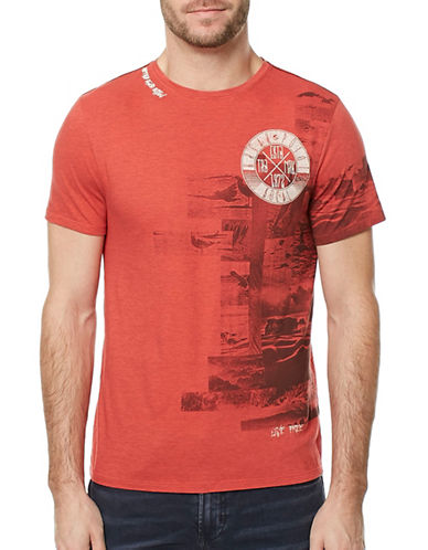 Buffalo David Bitton Tater Graphic T-Shirt-RED-Large