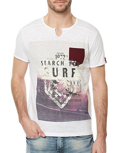 Buffalo David Bitton Kato Jersey T-Shirt-WHITE-Large