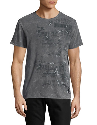 Buffalo David Bitton Graphic T-Shirt-GREY-Small
