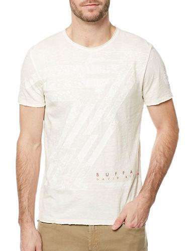 Buffalo David Bitton Tagreen Graphic T-Shirt-SILVER-X-Large
