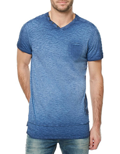 Buffalo David Bitton Kiyo Jersey T-Shirt-BLUE-Medium
