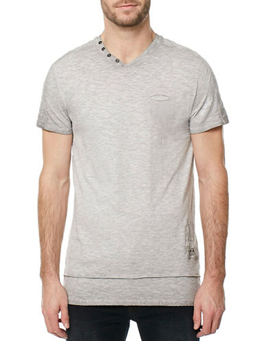Buffalo David Bitton Kiyo Jersey T-Shirt-GREY-Medium