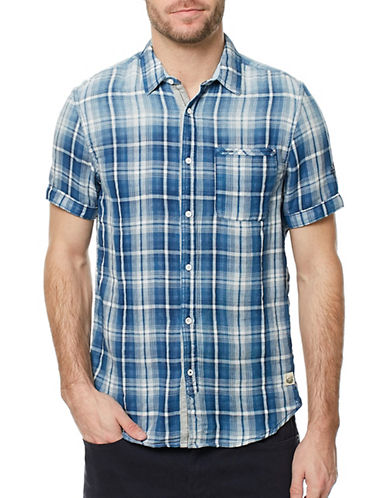 Buffalo David Bitton Sagnessa Plaid Shirt-BLUE-Medium