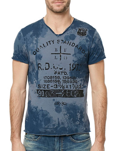 Buffalo David Bitton Graphic Cotton Tee-BLUE-X-Large