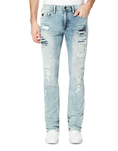 Buffalo David Bitton Evan Slim Jeans-BLUE-33X32