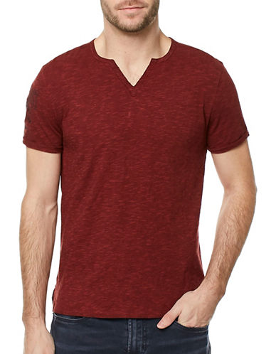 Buffalo David Bitton Hi-Lo Cotton Top-RED-Medium