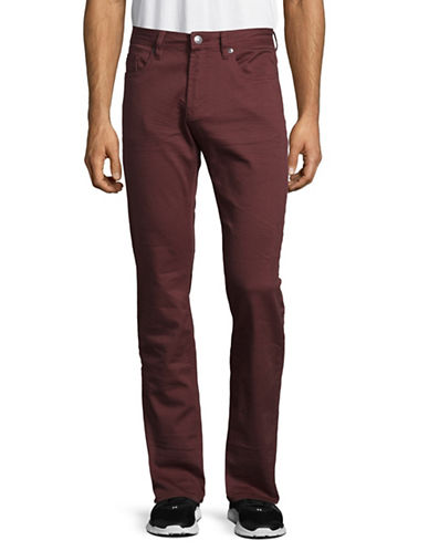 Buffalo David Bitton Six-X Slim Straight Stretch Jeans-RED-30X34