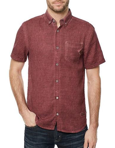 Buffalo David Bitton Sakuli Button-Down Poplin Shirt-PURPLE-X-Large