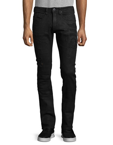 Buffalo David Bitton Slim-Fit Stretch Patches Jeans-BLUE-36X34